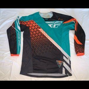 Fly Racing Kinetic Black Orange Teal Jersey